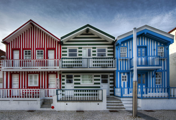 A typical house for holidays in Aveiro, Portugal. Aveiro Building Exterior EyeEm Best Shots Holiday No People Outdoors Portugal Stripes Pattern
