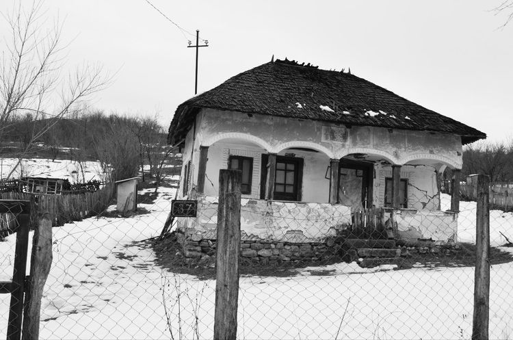 Architecture Built Structure Country Countryside No People Old House Outdoors Winter