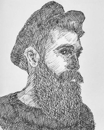 :: No Shave November :: Noshavenovember Noshave Beard Men Beards Artporn Art Sketch Pen Paper Quick Quicksketch Scribble Sketchbook Instaartist Instagram Face Love Crosshatching Crosshatch Ink Inktober Inked Inkmaster