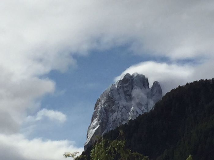 Sky Cloud - Sky Nature Low Angle View Weather Beauty In Nature Outdoors Day Scenics Tranquility No People Mountain Dolomites, Italy Nature Rock - Object