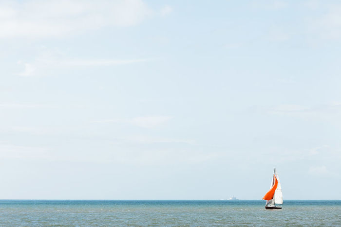 Beauty In Nature Boat Day Horizon Over Water Nature Nautical Vessel Outdoors Sea Sky Transportation Water