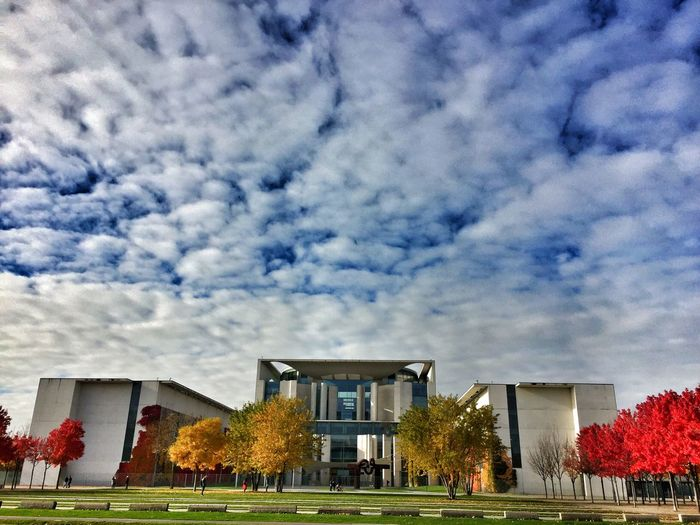 Architecture Architecture Autumn Colors Berliner Ansichten Blue Sky Blue Skye White Clouds Building Exterior Built Structure Cloud - Sky Day Modern Nature No People Outdoors Sky Travel Destinations