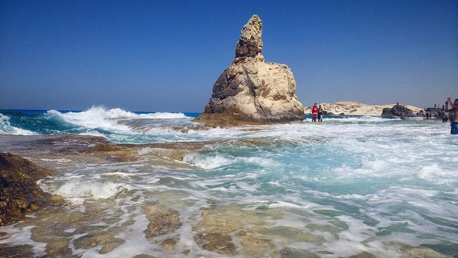 Sea Beach Blue Travel Destinations Water Outdoors Wave Sky Clear Sky Beauty In Nature Nature Mediterranean