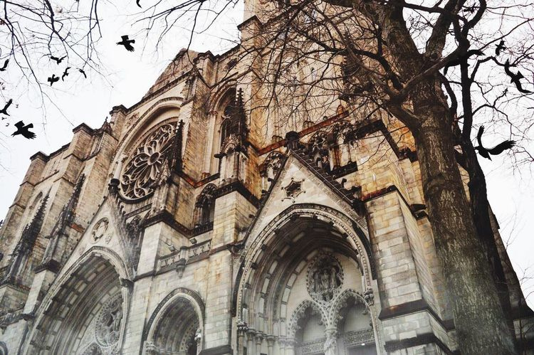 Low Angle View Religion Place Of Worship Belief Spirituality Architecture Building Exterior Building The Past Built Structure History Travel Destinations No People Day Sky Tourism Ornate Gothic Style