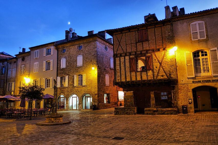 Architecture Night Building Exterior Illuminated Built Structure Street Light Outdoors No People Sky City Saint Cere France EyeEmNewHere
