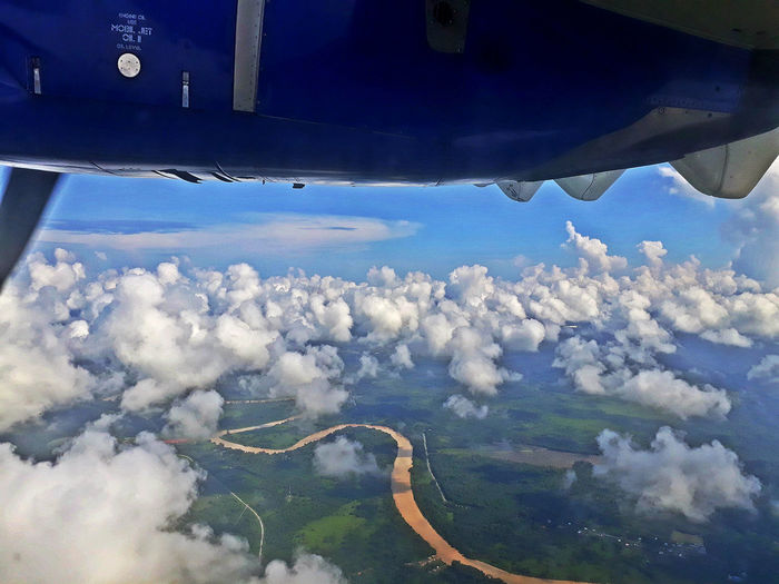 AirPlane ✈ EyeEmNewHere Airplane Beauty In Nature Cloud - Sky Flying Mode Of Transportation on the move Outdoors Scenics - Nature Transportation Travel