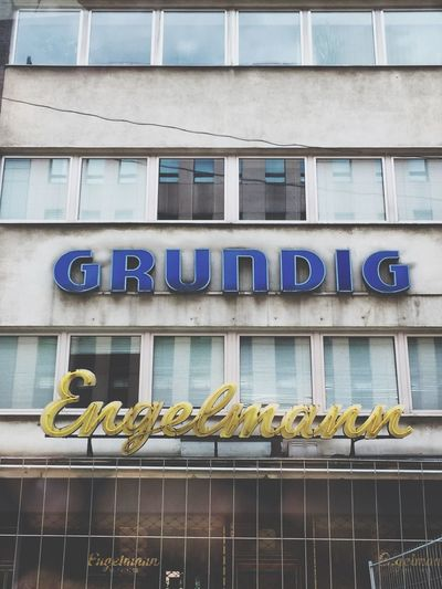 Good old Window Text Low Angle View Building Exterior Architecture Built Structure No People Day Outdoors Düsseldorf Technology Old Architecture The Way Forward Urbanphotography Urban