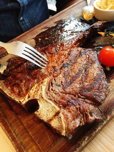 Viande Meat! Meat! Meat! T-bone T-bone Steak Food Fork Visual Feast