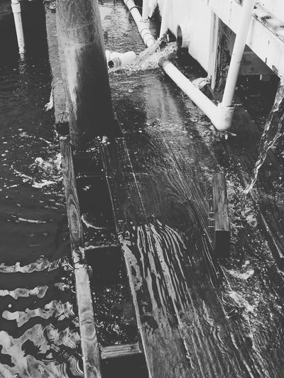 Blackandwhite Water Runoff Taking Photos Rockport Texas