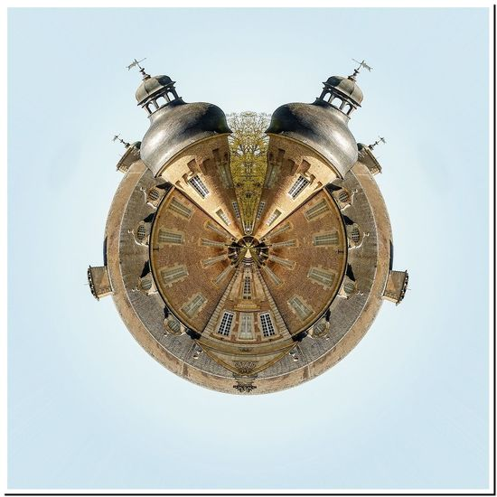 Little Planet Architecture Bell Tower Building Exterior Built Structure City Clear Sky Clock Clock Face Clock Tower Close-up Day Low Angle View No People Outdoors Place Of Worship Religion Roman Numeral Sky Spirituality Time