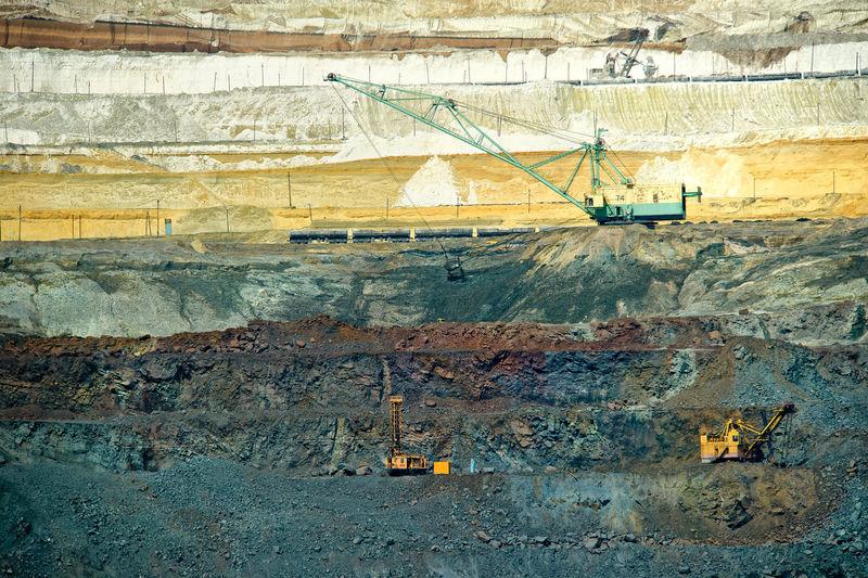 Crane at mining industry