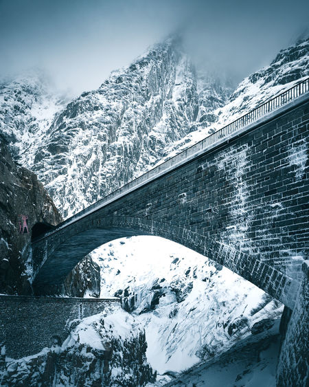 The Week On EyeEm Alps Andermatt  Architecture Beauty In Nature Bridge - Man Made Structure Cold Cold Temperature Day Devils Bridge Frozen Landscape Mountain Mountain Range Nature No People Outdoors Scenics Snow Snowcapped Mountain Switzerland Teufelsbrücke Tranquil Scene Weather Winter