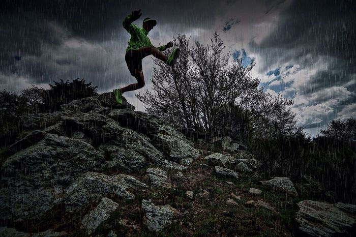 Sports Photography Trail Running Raining