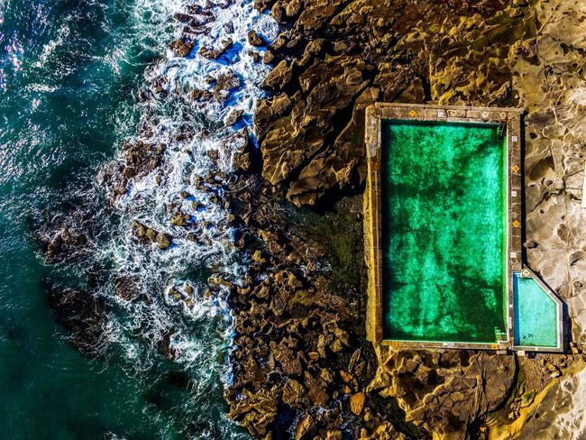 Who would not like to swim here? Beautiful Nature Beauty In Nature Bestoftheday Birds Eye View Cliffs Drone  Drone Moments Drones Droneshot Eye4photography  EyeEm Best Shots EyeEmBestPics From Above  Nature Relax Rockpool Rockpools Rough Stunning Swimming Swimming Pool Swimming With The Fish Flying High Ocean Cliff Flying High
