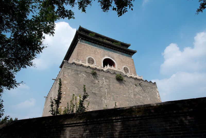 Hutong Streetphotography in Beijing, China ASIA Architecture Beijing Drum Tower Peking  Sightseeing Travel Architecture Bell Tower Building Exterior Built Structure China Day History Hutong Landmark Low Angle View No People Outdoors Sight Sky Streetphotography Tower Travel Destinations Tree