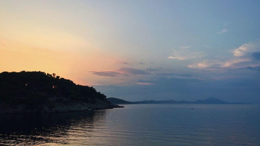 """Oil"", Veli Losinj, Croatia, 2016. Oil Oil Painting Veli Lošinj Losinj Croatia Landscape Seascape Painting Tranquil Scene Water Scenics Mountain Majestic Outdoors Dramatic Sky"