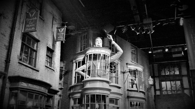 """Here is a (Black and White) Photo shot of """"Weasleys Wizard Wheezes"""" Joke shop which is a shop that is apart of the Diagon Alley film set which is now apart of """"The Making of Harry Potter"""" A UK London Attraction which is located in Leavesden, Watford, London, United Kingdom. 2016 Architecture Black & White Black And White Black And White Collection  Black And White Photography Black&white Blackandwhite Blackandwhite Photography Blackandwhitephotography Building Exterior Built Structure City Day England, UK Harry Potter Harry Potter Studios Harry Potter ⚡ Harry Potter ❤ London Attractions Low Angle View No People Outdoors United Kingdom Window"""