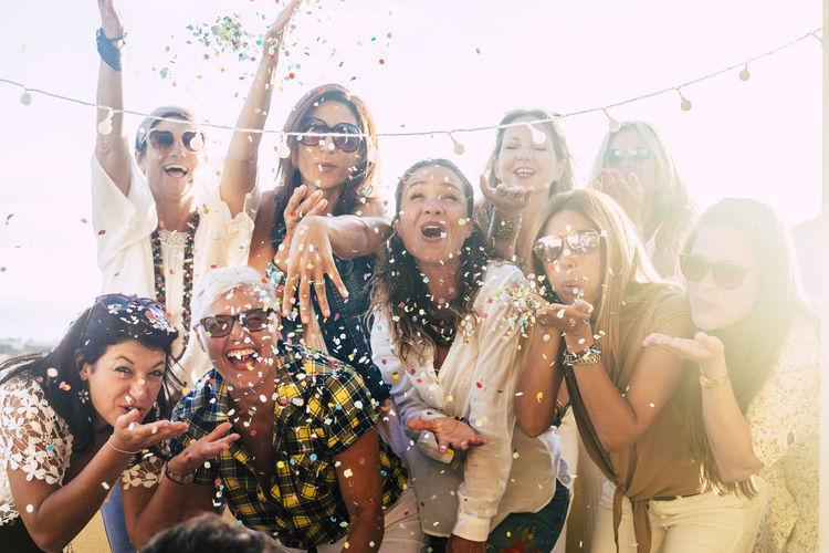 Cheerful women enjoying during party