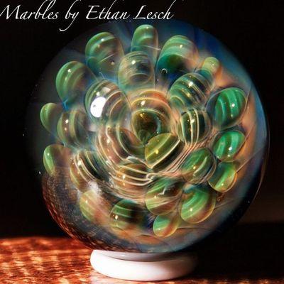 Marble Handmade Boromarble BORo headyart headymarbles glassmarble glass glassblowing mib headyglass ventura 805 ethanlesch