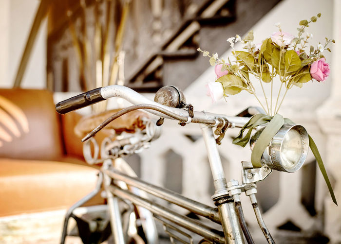 Old bicycle and flowers, vintage and retro style Bicycle Flowering Plant Flower Transportation Freshness Nature Close-up Day Vintage Old-fashioned Decoration Garden Outdoors Flora Antique Beautiful Romantic Romance Summer Wedding Day