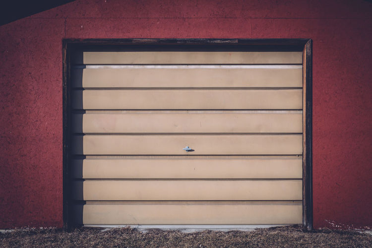 Architecture Building Exterior Built Structure Close-up Day Garage Garage Door No People Outdoors Red Red
