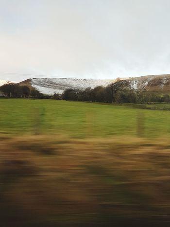 Train Journey Train Ride Winter Snowy Hills Fields Grass Outdoors Sky