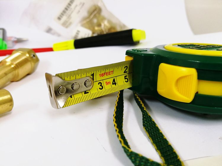 EyeEm Selects White Background Close-up Tape Measure Instrument Of Measurement Ruler Tool Measuring Hand Tool