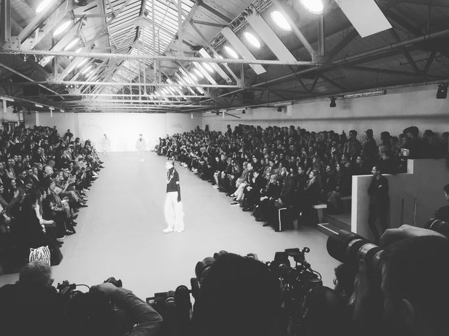 London Londonfashionweek Fashion Show Catwalk Blackandwhite Photography