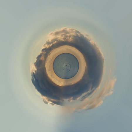 Little planet 360 degree sphere. Panoramic view of sunrise above the Mediterranean Sea. Cloudy sky 3 Dimensional 360 Degree 360 Degree Panorama 360 Panorama 360° 360° Panoramic Views Circle Earth Panorama Panoramic Plane Sunset_collection Cloud - Sky Landscape Mini Miniature Nature Outdoors Sea And Sky Sky Sky And Sea Sunrise Sunset Three Dimensional Wolrd