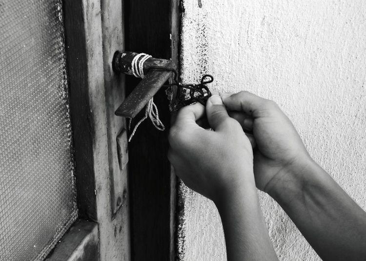 Exploring abandoned places Bw_collection Bw Murter Croatia Dalmatia Summer Mediterranean  Abandoned Human Hand Key Lock Door Safety Metal Security Hinge Close-up Door Handle Locked Front Door Closed