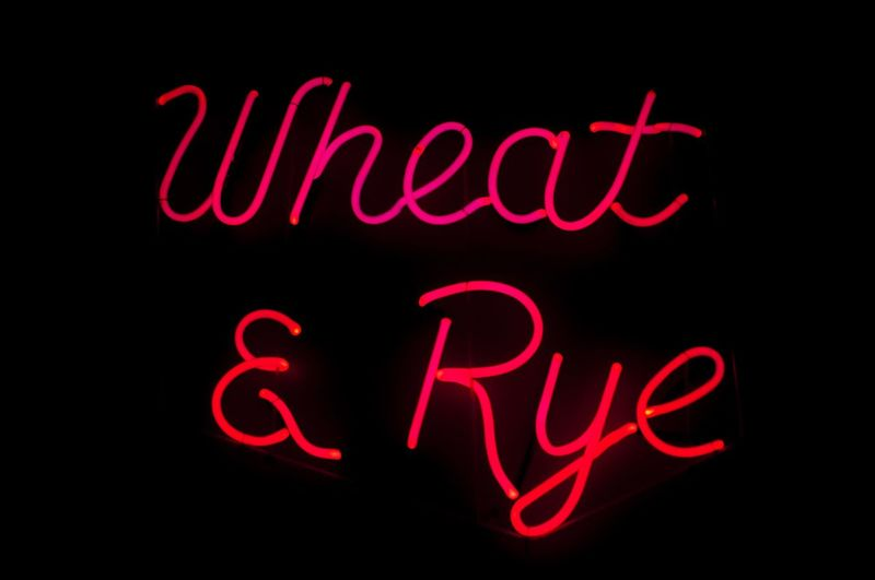 real neon at the Wheat & Rye Red Night No People Neon Black Background Close-up Allen Park, Mi Michigan Bars Bar Neon Sign ネオンサイン