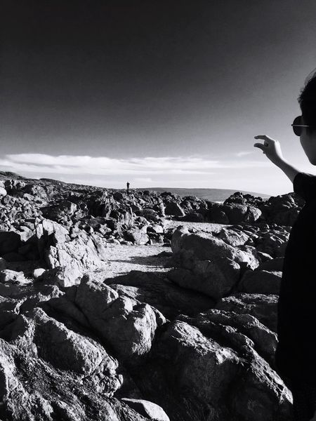The KIOMI Collection 2016 EyeEm Awards Catch The Moment The Great Outdoors - 2016 EyeEm Awards Capture The Moment Black & White Black And White Photography Black And White Original Photography Children Photography Ocean Rocks Water Waves Rock Formation West Australia IPhone Photography EyeEm Nature Lover Beautiful Nature Balancing Elements Rocks Sands Plant Beach Popular Showcase April Taking Photos Wildnature Contrast Father And Daughter Big And Small