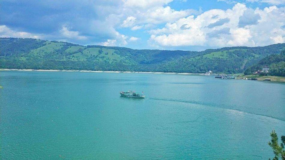 Lake Lake View Wather Bicaz Lake Boats Ship Panorama Romaniafrumoasa