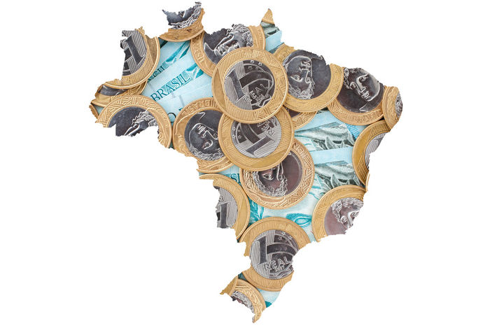 Brazil Brazilian Map Economy Finances Government Lawless Map Politics Admin Cash Coin Congress Corruption Crisis Inflation  Lava Jato Lava-jato Lavajato Michel Temer Money Political Politics And Government Success Thief White Background
