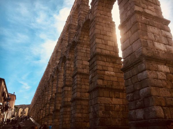 Architecture Roman Ruins Aquaduct Segovia Archaeology History Old Ruin Travel Destinations Low Angle View Ancient Civilization SPAIN Segovia