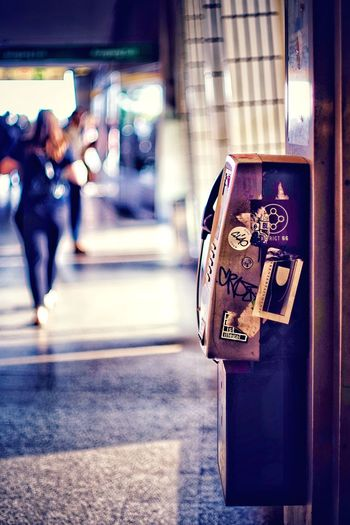 Old Puplic Telephone Coin Telephone Puplic_transportation Old Telephone Architecture City Street Transportation Built Structure Focus On Foreground Communication Walking Outdoors Road Real People Building Exterior Incidental People Technology Lifestyles One Person Day City Life