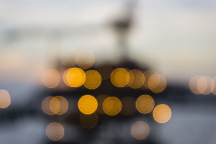 Close-up of defocused lights