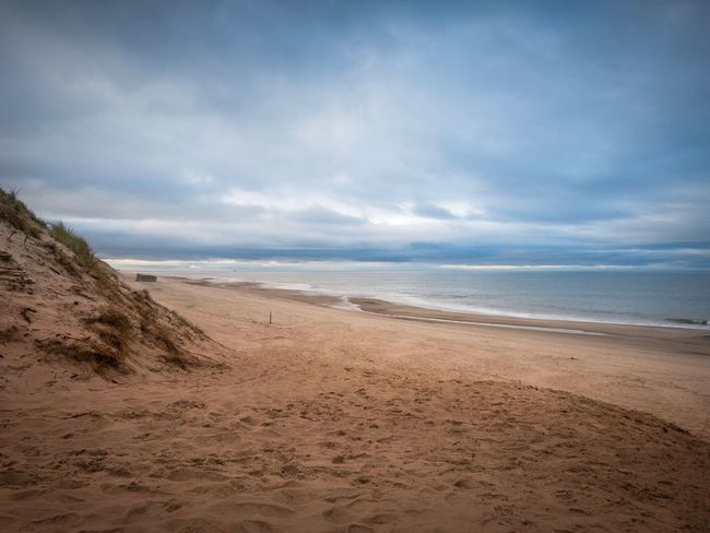 Sea Beach Sand Horizon Over Water Sky Water Nature Tranquil Scene Tranquility Beauty In Nature Wave No People Outdoors Day Danmark Natur Dramatic Sky Landscape Sand Dune