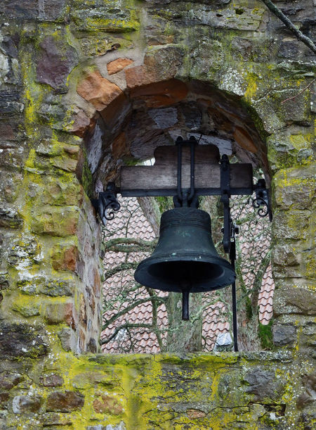 Architecture Bell Brick Wall Church Bell Church Bell Tower Church Tower Day Germany Ivy Low Angle View Moss Mossy Stone Mossy Wall Nature No People Ostwestfalen Outdoors