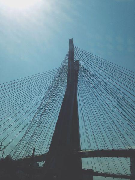 My City Connection Suspension Bridge Bridge - Man Made Structure Low Angle View Architecture Outdoors Built Structure