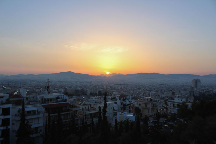 Athens Beautiful Big Ben City Life Eco Greece Green Green Color Horizon Over Water Setting Sunset Sunster White