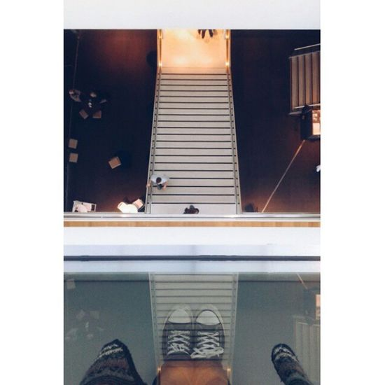 Reflection Stairs Shapes Lines Light Sneekers Fries Museum Leeuwarden Netherlands Vscocam