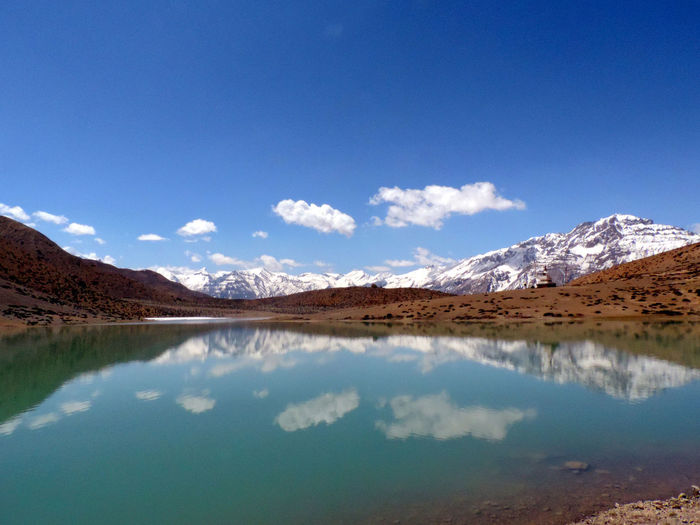 Scenic view of dhankar lake