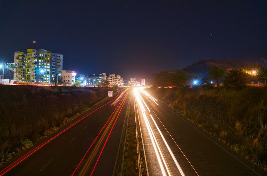 Here we go, light trails again Night Illuminated Light Trail City Outdoors No People Long Exposure Landscape Cityscape Compositionkillerz Multi Colored The Great Outdoors - 2017 EyeEm Awards Long Exposure Night Photography Long Exposure Shot Longexpoelite Night Photography Longexposurephotography LandscapeCollection Theimaged MyDarkShot Longexposure Bridge - Man Made Structure Transportation
