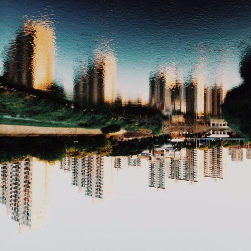 Cityscapes River Reflecting Bundang