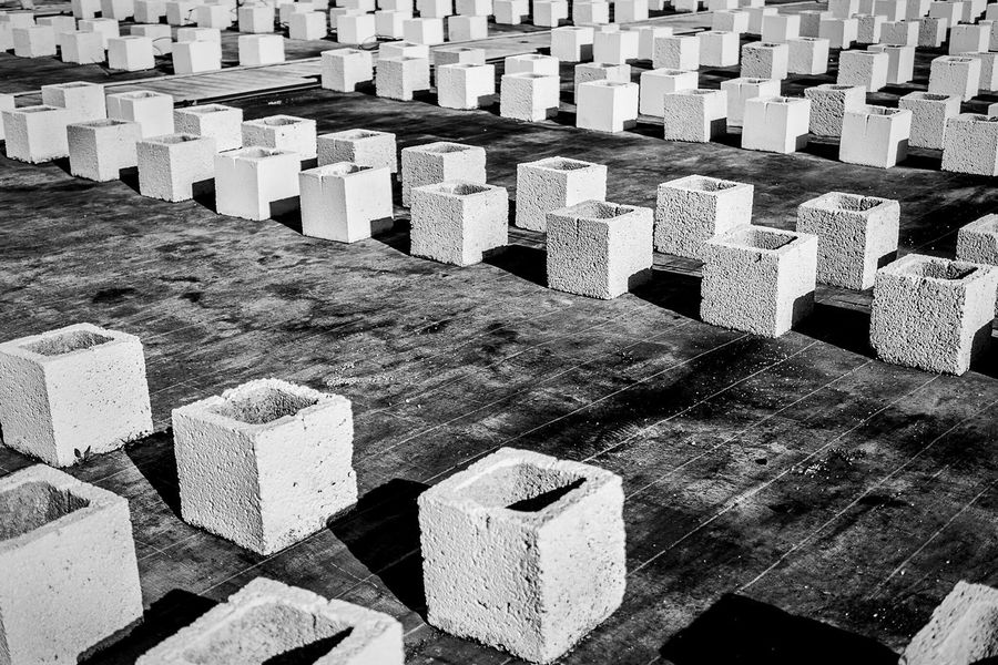 Concrete Blocks Open Edit Blackandwhite Monochrome_life Monocrome Light And Shadow High Contrast Abstract Learn & Shoot: Simplicity