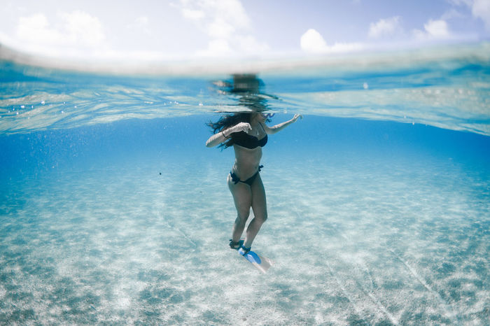 Bikini Time❤ Canarias Canary Islands EyeEm Nature Lover La Graciosa Ocean View Summertime Beach Beachphotography Bikini Day Eye4photography  Model Nature Ocean One Person Outdoors Sea Sky Summer Swimming UnderSea Underwater Water Women