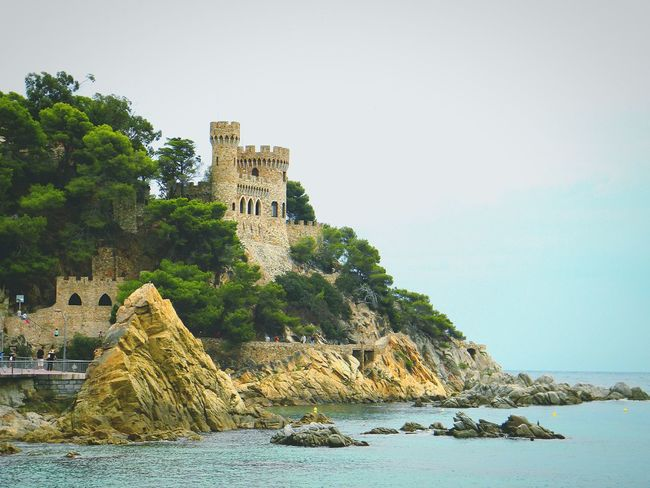 SPAIN Sea Lloret De Mar Beach Castle Summer View This Is Fun Buildings Vacation Hello World Check This Out Town Tourism Sky Nature Amazing View Cliff