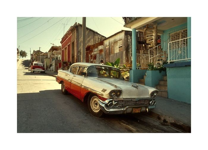 Car Cuba, Land Vehicle Oldtimer Parked Street Street Photography Transportation