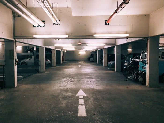 View of empty parking lot